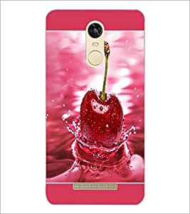 PrintDhaba Cherry D-1379 Back Case Cover for XIAOMI REDMI NOTE 3 PRO (Multi-Coloured)