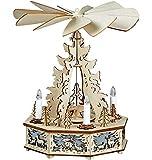 yanka-style Elektrisch angetriebene Weihnachts - / Advents - Pyramide Rehe ca. 32 cm hoch mit Beleuchtung Geschenk für Weihnachten Advent Dekoration (60741)