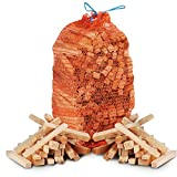 The Chemical Hut 3kg of Quality Natural Wooden Kindling, ideal for Fire Starting Open Fires, Stoves, BBQ, Fire Pits, Home Fires, Camp Fires & Ovens - Comes with THE LOG HUT® Woven Sack.…