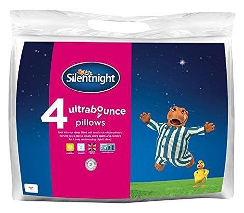 Silentnight Ultra Bounce Hollow Fibre Pillow - White, Pack of 4