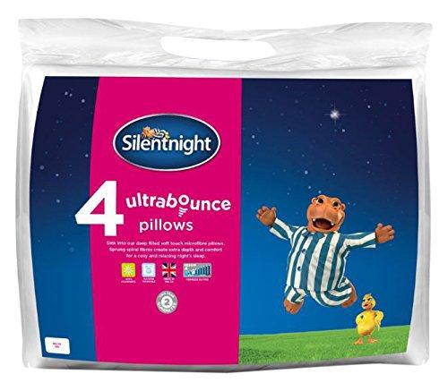 -[ Silentnight Ultrabounce Pillow, White, Pack of 6  ]-
