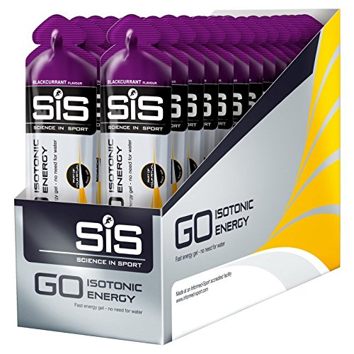 Science in Sport Go Isotonic Energy Gel, 60 ml - Blackcurrant, Pack of 6
