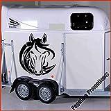 Pferdekopf Tribal Modell 2 Aufkleber Anhänger Pferd Anhänger ca. 60cm