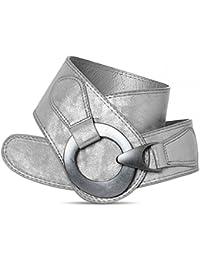 CASPAR para mujer cinturón ancho/cintura cinturón con diseño de cierre de metal sólido - Varios colores - GU243