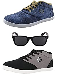 Globalite Men's Combo Of 2 Casual Shoes & Lotto Sunglass