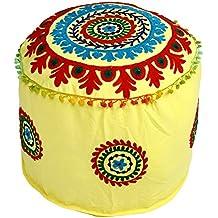 Indischen Vintage Osmanischen Pouf, Patchwork Osmanischen, Wohnzimmer  Patchwork Fuß Hocker Cover, Deko