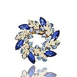 Lily Jewelry bouquet de grappe en cristal d'Autriche plaqué or Swarovski Element pour femmes