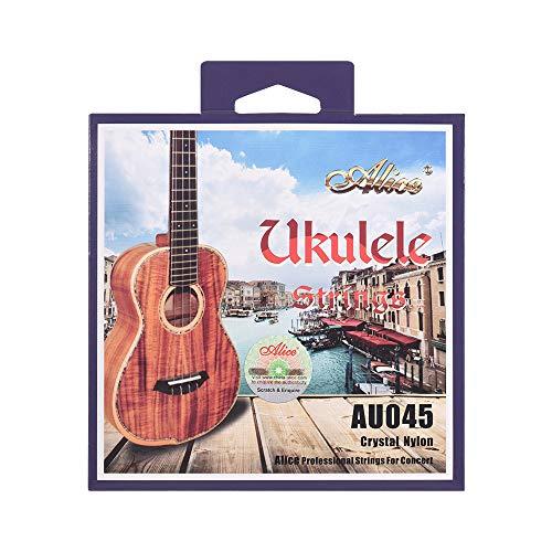 Bulufree Alice AU045 Series Ukulele Ukelele Uke Set di corde in nylon (AECG) per soprano Ukulele AU045-S