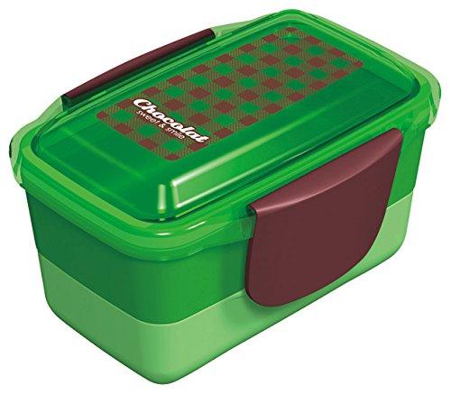 Chocolat dôme boîte à lunch à deux étages vert 668729