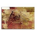 Abstrakte Bilder 100x70cm Abstrakt216 Brauntöne Weinrot Kunstdrucke auf Leinwand fertig bespannt Einteiler