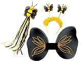 Karneval Kostüm Zubehör Set Biene Flügel Fühler Feenstab zu Fasching