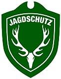 Waidmannsbruecke Unisex– Erwachsene Jagdschutz Hubertushirsch Autoschild, Grün, One Size