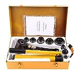 Punzonatrice idraulica, punzoni per metallo, punzonatrice per lamiera idraulico perforatrice per lamiera, idraulico 10T perforazione 22 - 60 mm foro ferro punzonatrice idraulica kit