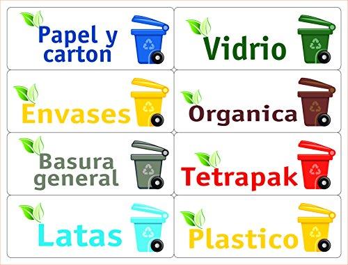 ATK 16 Etiquetas gestión residuos - Kit Bin - 120