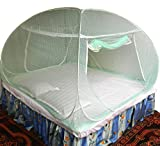 #8: Healthy Sleeping Foldable Polyester Double Bed Mosquito Net - Embroidery (Sea Green)