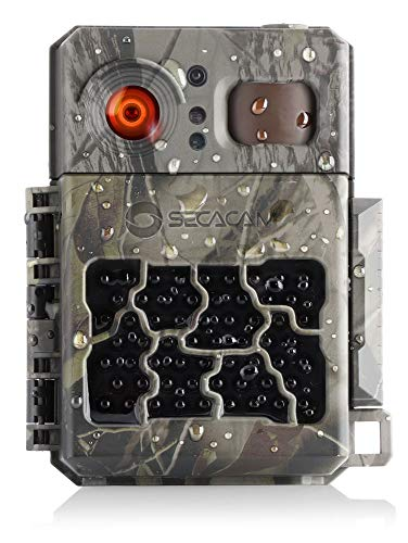 SECACAM PRO inkl. Fernbedienung - Wildkamera Überwachungskamera 80° Winkel Full HD Nachtsicht