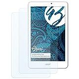 Bruni Schutzfolie für Acer Iconia Tab 8 W W1-810 Folie, glasklare Displayschutzfolie (2X)