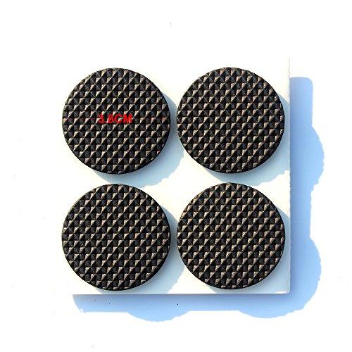 Anti Rutsch Gummi Pad Selbstklebend (Rutschhemmer FüR MöBel,Sofas,Tische) - Filzgleiter MöBelgleiter Selbstklebend Best Fliesen,Laminat,HolzfußBoden Protektoren Ringsum 3.8Cm 16Pcs -