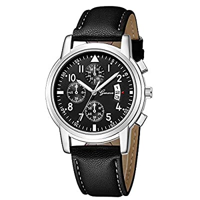 Absolute Cheap!!! But Looks Really Expensive Mens Dress Watch- Fashion Simple Analog Watch Dial Quartz Crocodile Faux Leather : everything five pounds (or less!)