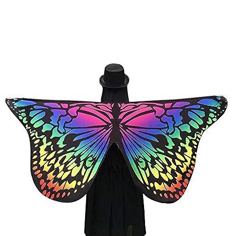 Echarpes Covermason Tissu doux papillon ailes châle fée Mesdames nymphe Pixie accessoire de Costume 145 * 65CM