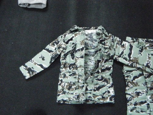 Image of Barbie Ken Action Man G.I. Joe Doll clothes army combat Camouflage No: 2 - 2 piece trousers & jacket outfit - posted from London by Fat-Catz