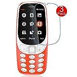 [3 Pezzi] Pellicola Protettiva Nokia 3310 2017, MaxKu proteggi schermo Anti-graffio HD ultra-chiaro Protezione Screen Protector per Nokia 3310 2017