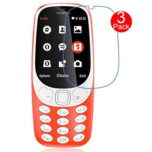 MaxKu Nokia 3310 2017 Schutzfolie Bildschirmschutzfolie, [3 Stück] HD Transparent Bildschirmschutz Weich Folie Screen Protector Für Nokia 3310 2017