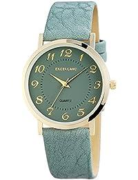 Excellanc 195021600180 - Reloj de pulsera mujer, varios materiales, color gris