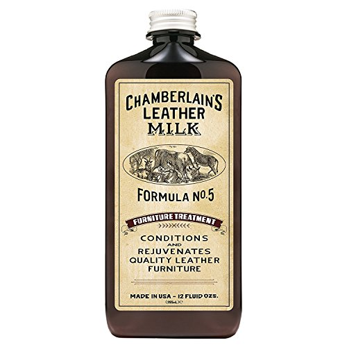Chamberlain's Leather Milk - Furniture Treatment Nr. 5 - Conditioner/Reiniger für Ledermöbel - Naturbasis/ungiftig - 1 Auftragepad 2 Größen - 0.35 L