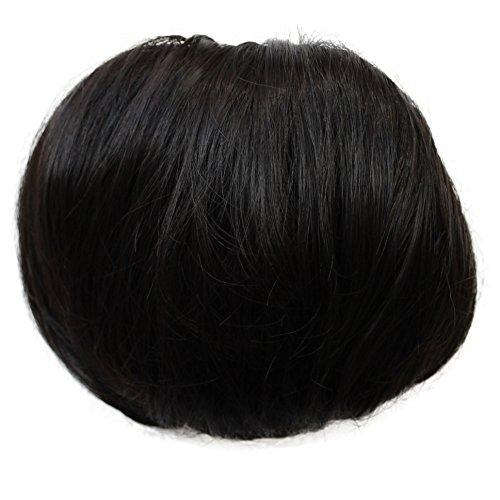 PRETTYSHOP Dutt Haarteil Zopf Haarknoten Hepburn-Dutt Haargummi Hochsteckfrisuren natur schwarz #3 HD10