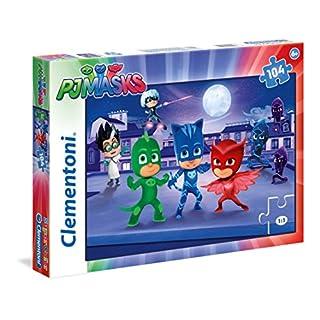 Clementoni 27209–Puzzle 3PJ Masks, 104Teile