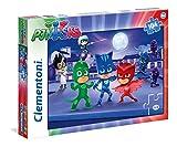 Clementoni- Pj Masks e Romeo Supercolor Puzzle, 104 Pezzi, 27209