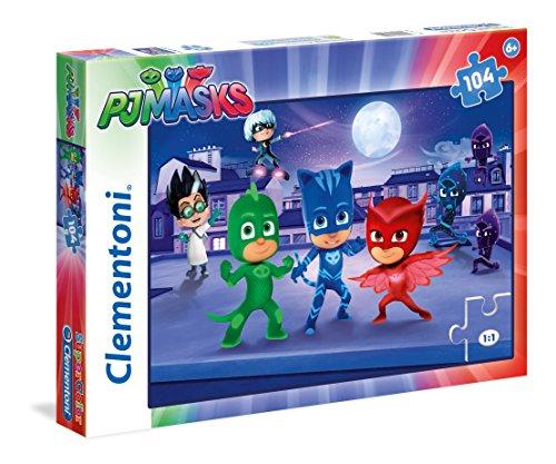Clementoni 27209-Puzzle 3PJ Masks, 104Teile (Pj 6 Größe Mädchen)