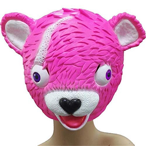happy event Kawaii Cuddle Team Leader Pink Bear Game Mask Melting Face Adult Latex Costume Toy