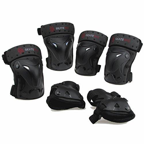 SKATEWIZ Protect-1 XS Schutzausrüstung Inliner Unisex für Kinder von 3 bis 7 Jahre (schwarz)