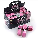 KARAKAL - PU Super Grip - selbstklebendes Griffband für Badminton, Squash, Tennis, Hockeyschläger oder Eisstock -  Pink 5er