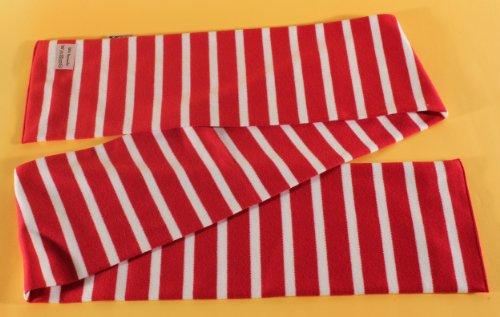 modAS Bretonischer Schal 02 rot/weiss gestreift 20x160 cm Nr. 2545