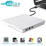 External CD DVD Drive USB 3.0 USB C 2 in1 Optical DVD Drive