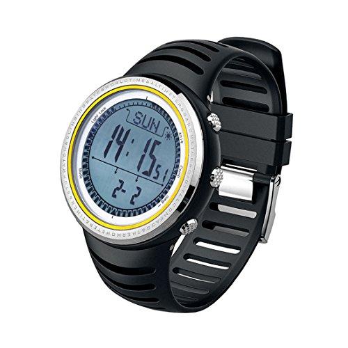 SUNROAD FR802A Herren 5ATM Waterproof Altimeter Compass Stopwatch Fishing Barometer Pedometer Outdoor Sports Watch Multifunction