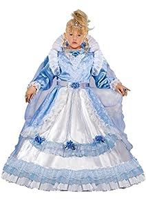 FIORI PAOLO 57156-Reina del castillo, disfraz de niña 5-7 anni azul claro