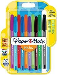 Paper Mate InkJoy 100ST balpen Gemiddelde punt (1,0 mm). 10 Stuk Fun-Farben