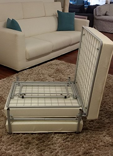 Ponti Divani - RUBIK - Pouf letto singolo con materasso con strato ...