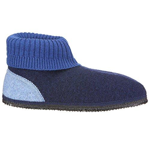 Giesswein Kramsach, Chaussons mixte enfant bleu foncé