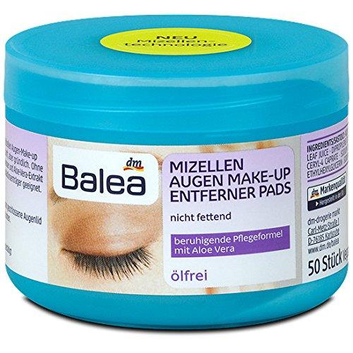 Balea Augen Make-Up Entferner Pads mit Aloe Vera ölfrei, 50 Stück
