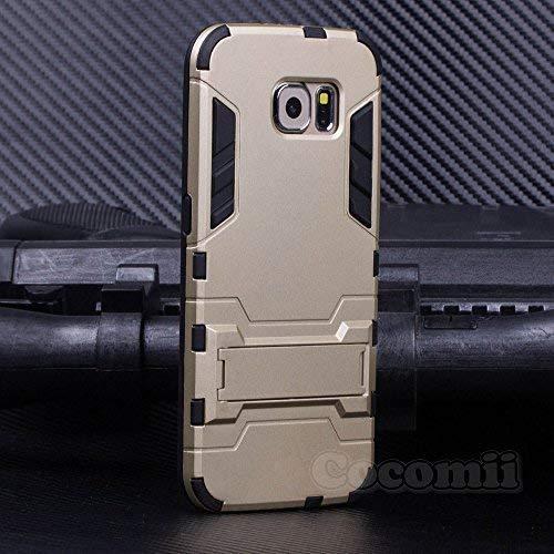 c8d96829621 Cocomii Iron Man Armor Galaxy S6 Edge Hülle [Strapazierfähig] Taktisch  Griff Ständer Stoßfest Gehäuse
