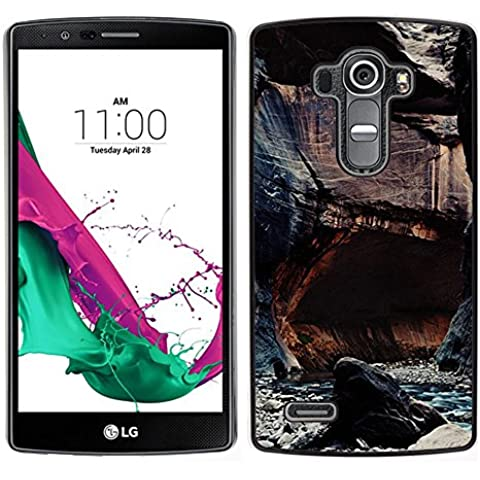 For LG G4 , S-type® Cliffs River Nature Rocks Water - Art & Design plastica dura Guscio Protettivo Cassa Cover