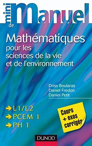 mini-manuel-de-mathmatiques-pour-les-sciences-de-la-vie-et-de-l-39-environnement
