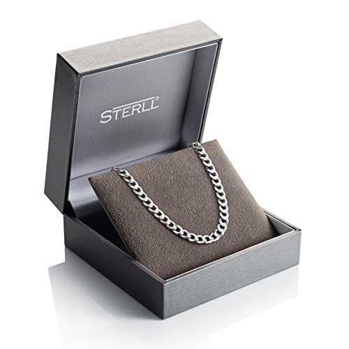 sterll herren silberkette silber 55 cm ohne anh nger geschenkverpackung geschenke f r m nner. Black Bedroom Furniture Sets. Home Design Ideas