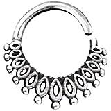 CHICNET Piercing da uomo e da donna, anello per labbro, labret, orecchio, trago, conch Daith Nostril Septum in argento Sterli