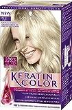 Keratin Color Cream Coloración Permanente Tono 9.1 Rubio Muy Claro Helado - 155 ml